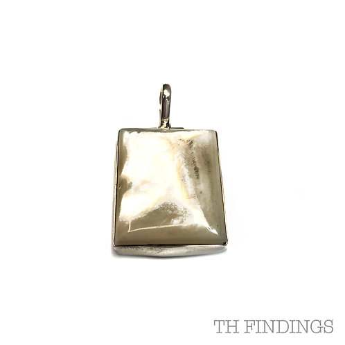 Mother of Pearl Semi Precious, Sterling Silver Statement Pendant