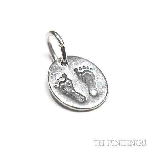 Sterling Silver 925 Footprint Charm