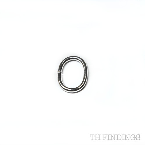 11mm x 8mm Sterling Silver Oval Jump Ring