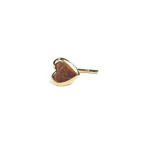 9ct Gold Heart Nose Stud