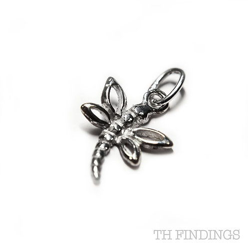 Sterling Silver 925 Dragonfly Charm