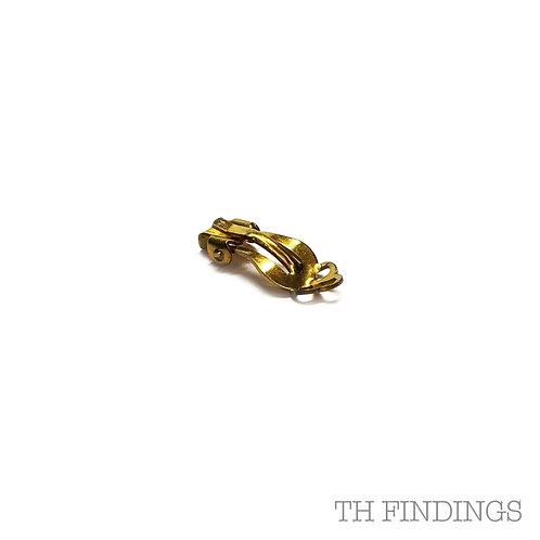 Small Brass Earclip Earring Finidngs