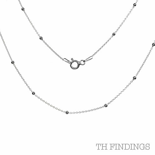 "Sterling Silver 925 18"" Forza Ball Chain"