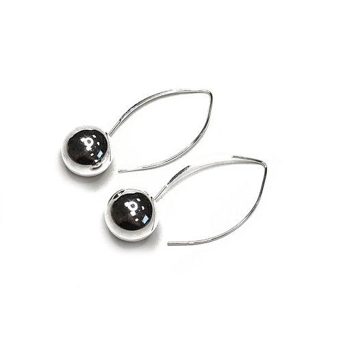 Sterling Silver 925 Ball Dropper Earrings