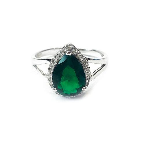 Emerald Green Cubic Zirconia Ring