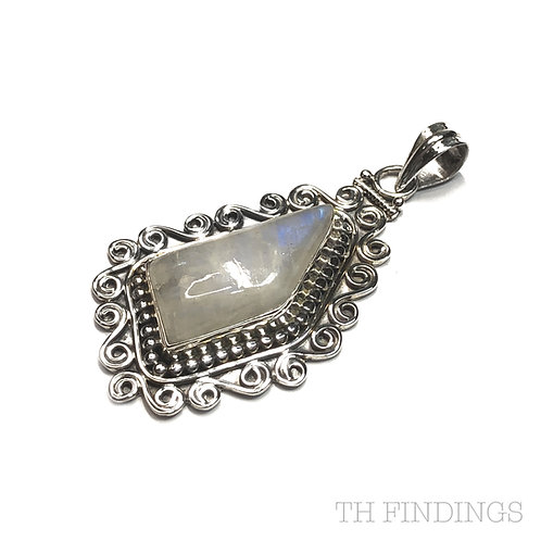 Moonstone Semi Precious, Sterling Silver Pendant