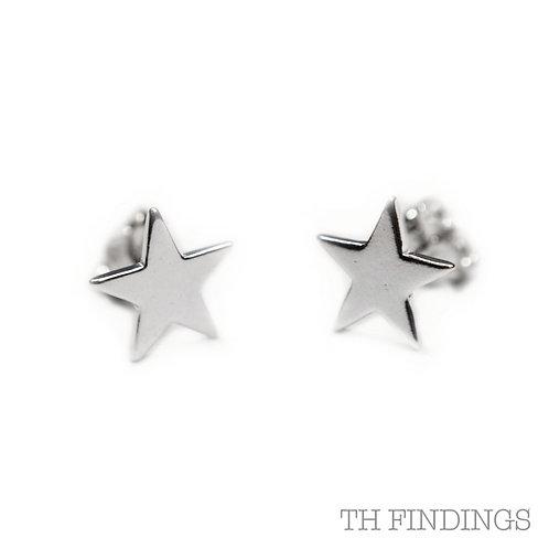 Sterling Silver 925 Star Earstuds