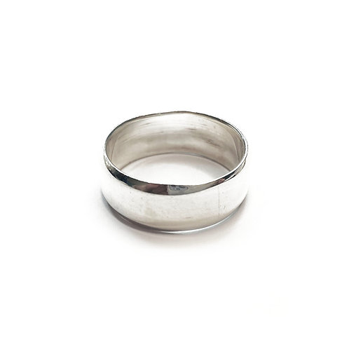 Sterling Silver 925 7mm Band Beveled Ring