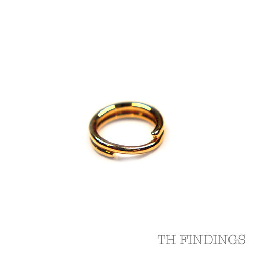 9ct Gold 5mm Split Ring 0.6mm Wire