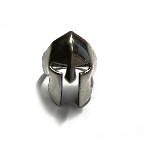 Sterling Silver 925 Size R Antique Finish Helmet Ring