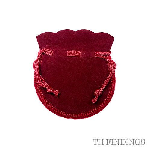 Red Velvet Gift Pouch in Various Sizes