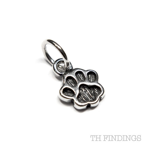 Sterling Silver 925 Paw Print Charm