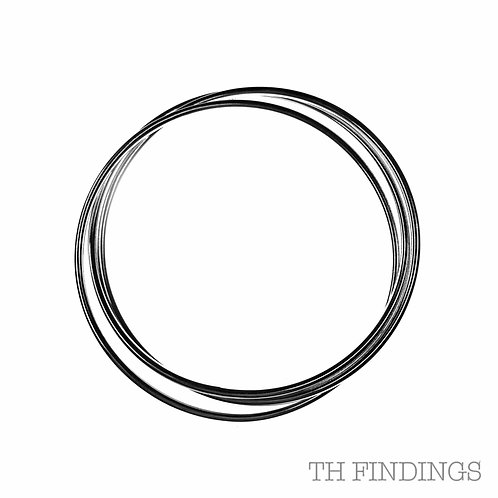 Sterling Silver 925 Plain Trinity Bangle