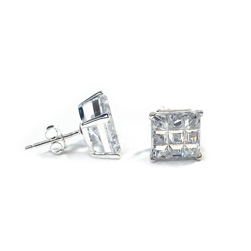 9mm CZ Boxed Square Studs