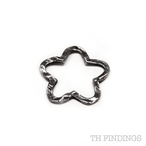 Sterling Silver 925 Textured Star Charm