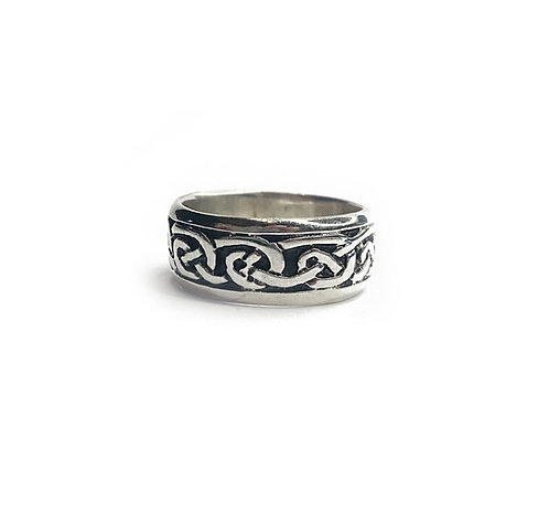 Sterling Silver 925 Antique Finish Celtic Knot Ring