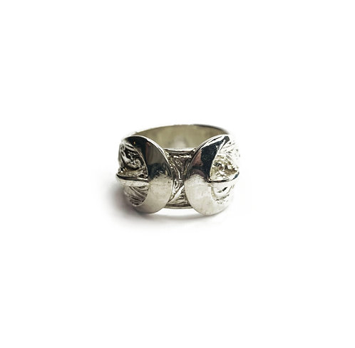 Sterling Silver 925 Heavyweight Filigree Buckle Ring
