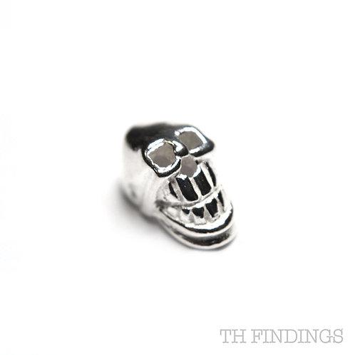 Sterling Silver 925 Skull Bead