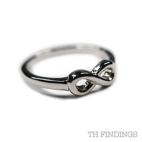 Sterling Silver 925 Rhodium Plated Adjustable Ring
