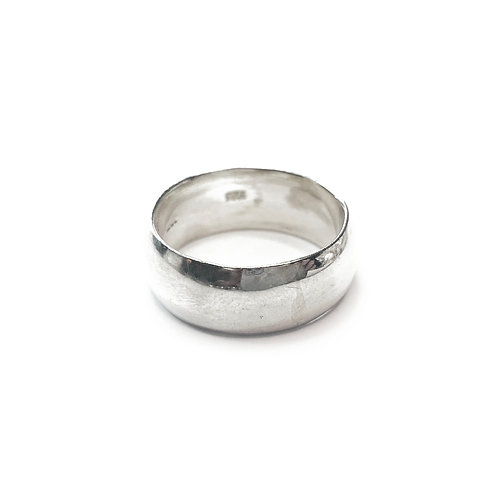 Sterling Silver 925 9mm D-Shaped Band Ring