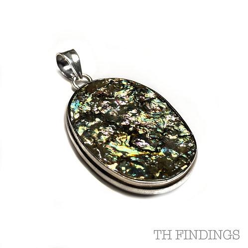 Abalone Semi Precious, Sterling Silver 925 Pendant