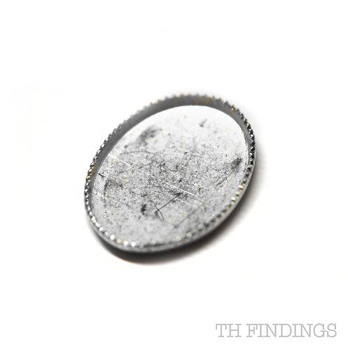 Sterling Silver 925 14x10mm Collett