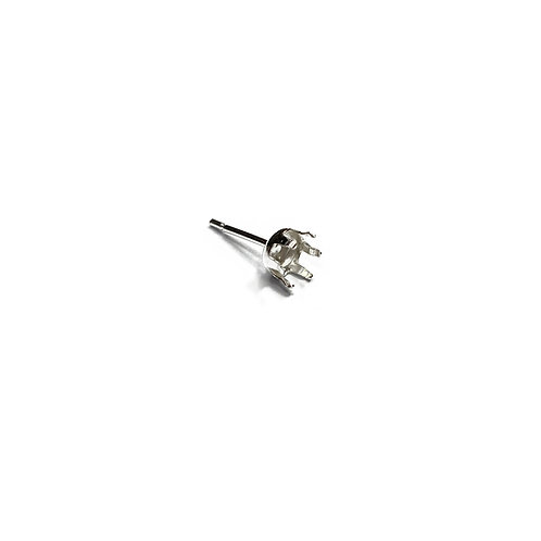 Sterling Silver 6mm Claw Earstud