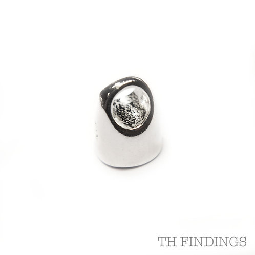 Sterling Silver 925 4mm End Cup