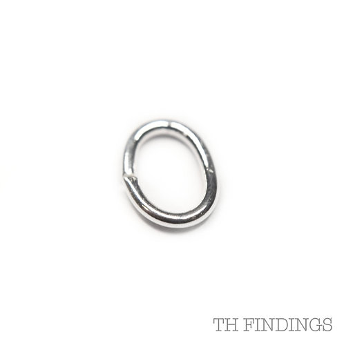 6mm x 4mm Sterling Silver Oval Jump Ring