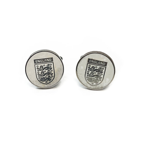 Boxed Silver Plated England Football Crest Cufflinks