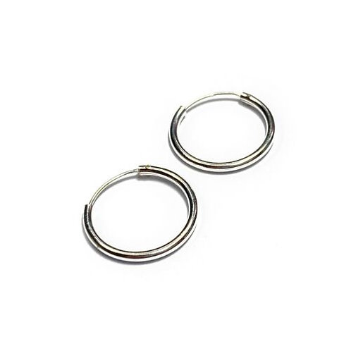 Sterling Silver 925 18mm Slim Hoop Earring