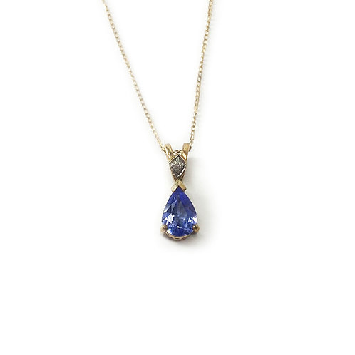 "9ct Gold 18"" Tanzanite Necklace"