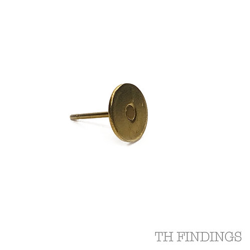 7mm Pad Earstud With Plated Finish