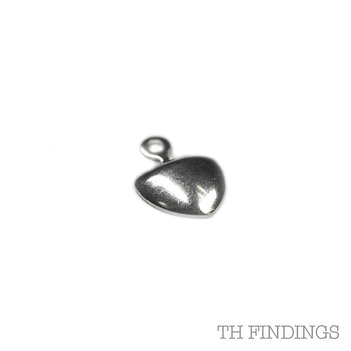 Sterling Silver 925 Stamped Heart Pendant