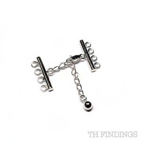 Sterling Silver 8 Hole Kadi Clasp & Extension Chain