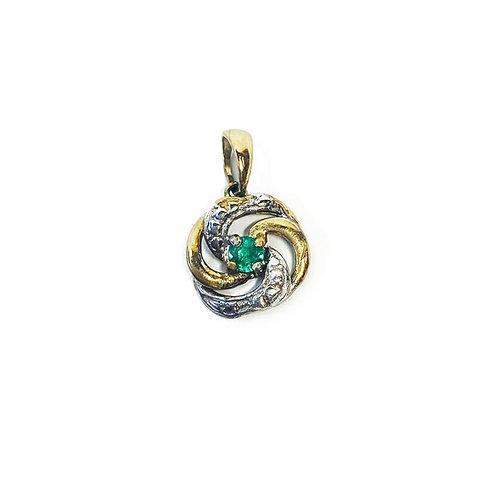 9ct Gold Emerald Pendant