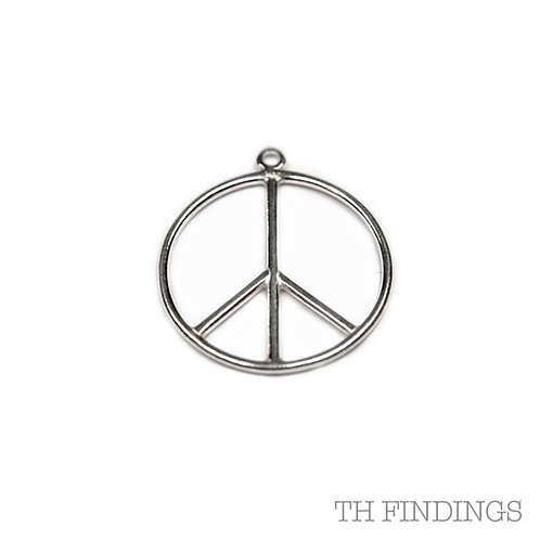 Sterling Silver 925 Peace Charm