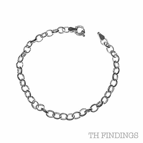 Sterling Silver 925 Thick Belcher Chain Bracelet
