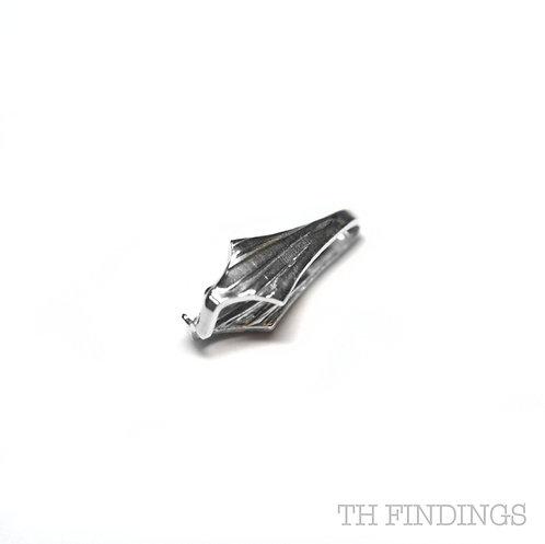 Sterling Silver 925 Fancy Squeeze Bail