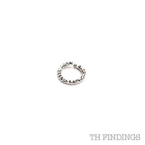 8.5mm Twisted Base Metal 1.2mm Wire Jump Ring in Plated Finishes