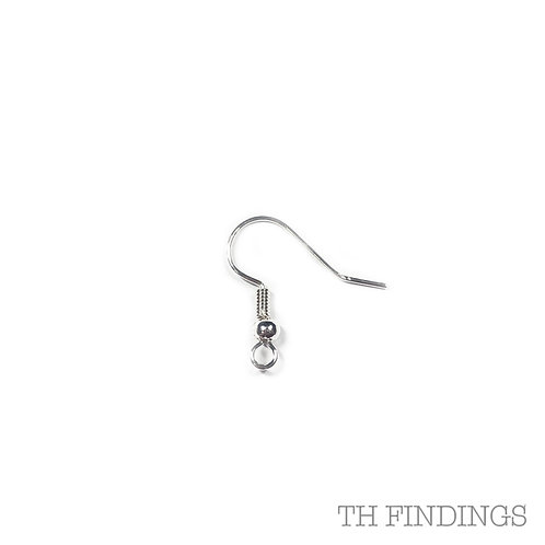 Silver Plated Base Metal Ball & Spring Earwire