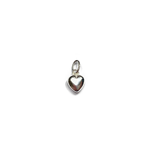 Sterling Silver 925 Small Puff Heart Charm