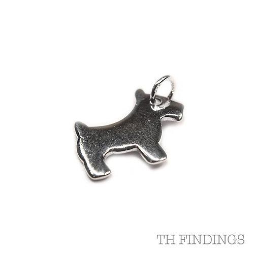 Sterling Silver 925 Dog Charm