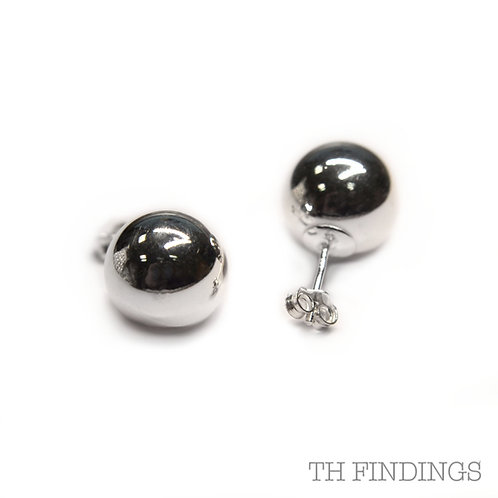Sterling Silver 925 12mm Ball Earstuds