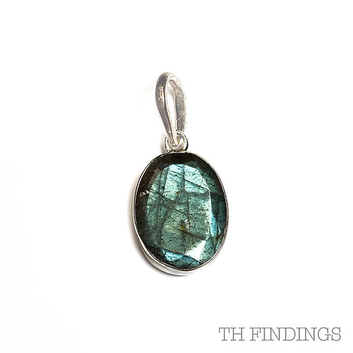 Labradorite Semi Precious, Sterling Silver Pendant