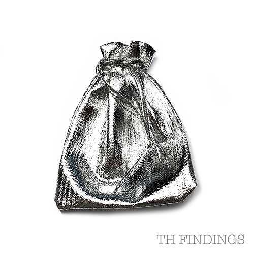 Silver Colour Gift Pouch in Various Sizes