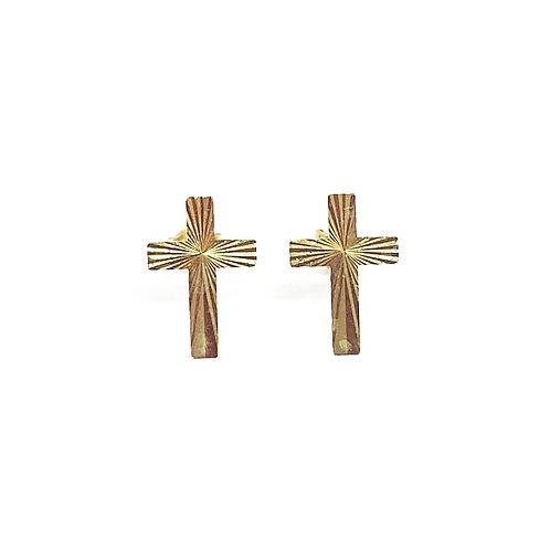 9ct Gold Cross Stud
