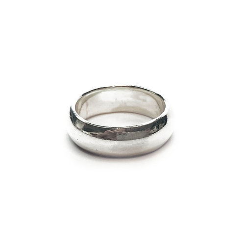 Sterling Silver 925 6mm D-Shaped Band Ring