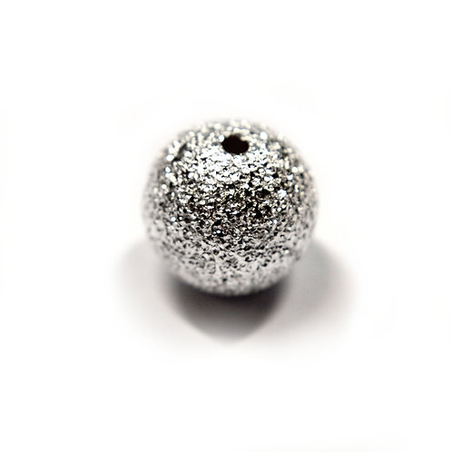 Sterling Silver 925 8mm Through Hole Diamante Bead