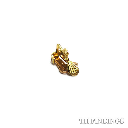 Brass Base Metal 18mm Earclip with Ring